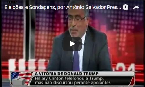 Eleições e Sondagens, por António Salvador Presidente da Apodemo na TVI 24HORAS