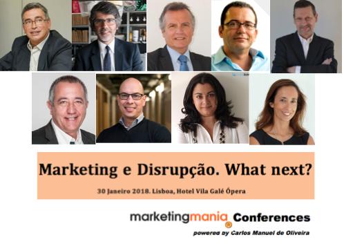 """1ª Conferência marketingmania – """"Marketing e Disrupção. What next?"""""""
