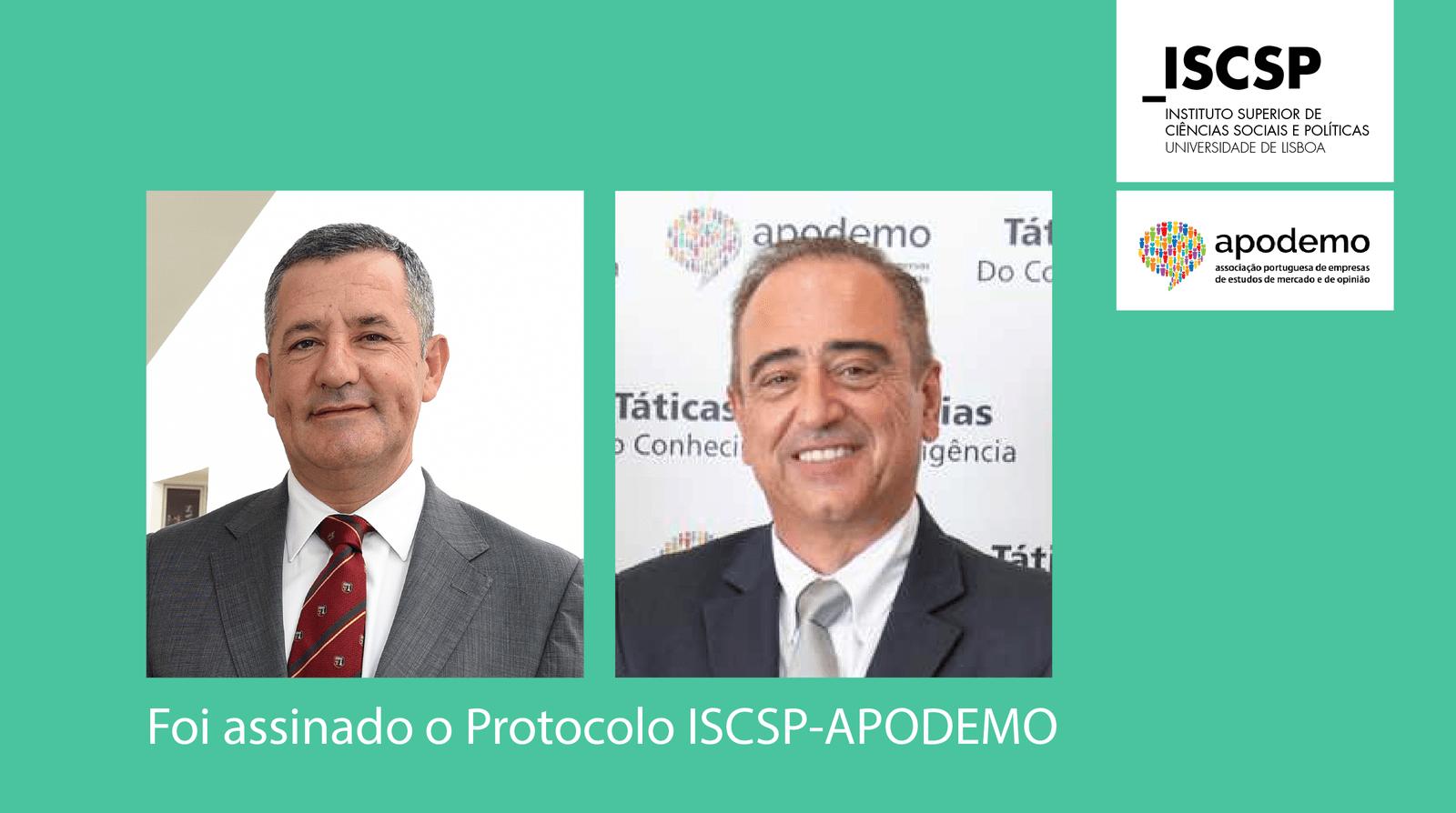 ISCSP e APODEMO assinam protocolo de cooperação